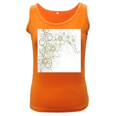 Flowers Background Leaf Leaves Women s Dark Tank Top