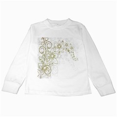Flowers Background Leaf Leaves Kids Long Sleeve T-Shirts