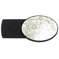 Flowers Background Leaf Leaves USB Flash Drive Oval (4 GB)