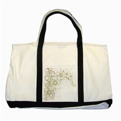 Flowers Background Leaf Leaves Two Tone Tote Bag