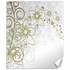 Flowers Background Leaf Leaves Canvas 8  x 10