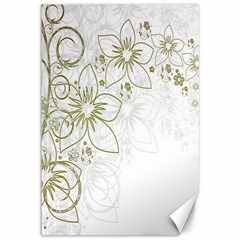 Flowers Background Leaf Leaves Canvas 12  x 18