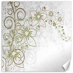 Flowers Background Leaf Leaves Canvas 16  x 16
