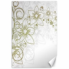 Flowers Background Leaf Leaves Canvas 20  x 30