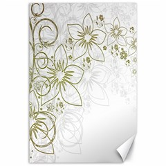 Flowers Background Leaf Leaves Canvas 24  x 36