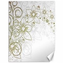 Flowers Background Leaf Leaves Canvas 36  x 48