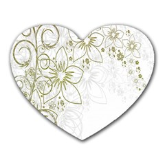 Flowers Background Leaf Leaves Heart Mousepads