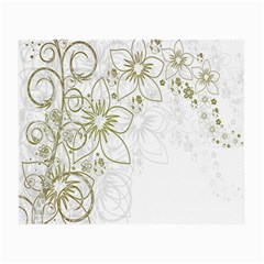 Flowers Background Leaf Leaves Small Glasses Cloth (2-Side)