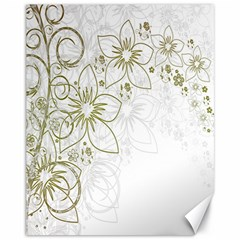 Flowers Background Leaf Leaves Canvas 11  x 14