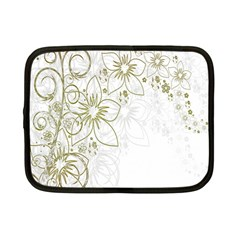 Flowers Background Leaf Leaves Netbook Case (Small)