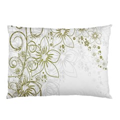 Flowers Background Leaf Leaves Pillow Case