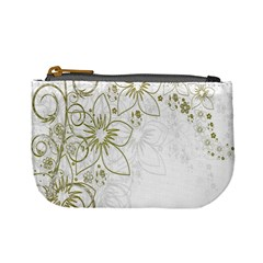 Flowers Background Leaf Leaves Mini Coin Purses