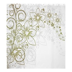Flowers Background Leaf Leaves Shower Curtain 66  x 72  (Large)