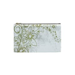 Flowers Background Leaf Leaves Cosmetic Bag (Small)