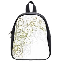 Flowers Background Leaf Leaves School Bags (Small)