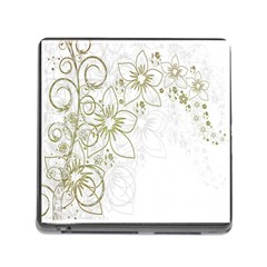 Flowers Background Leaf Leaves Memory Card Reader (Square)