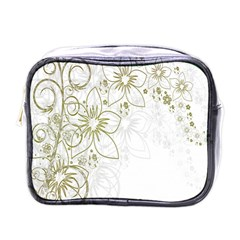 Flowers Background Leaf Leaves Mini Toiletries Bags