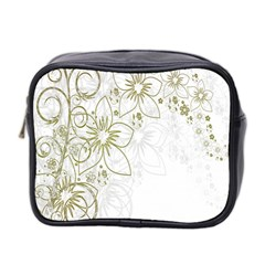 Flowers Background Leaf Leaves Mini Toiletries Bag 2-Side