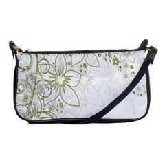 Flowers Background Leaf Leaves Shoulder Clutch Bags