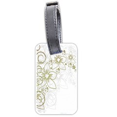 Flowers Background Leaf Leaves Luggage Tags (One Side)