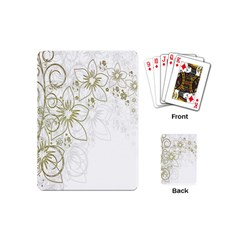 Flowers Background Leaf Leaves Playing Cards (Mini)