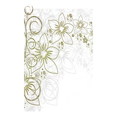 Flowers Background Leaf Leaves Shower Curtain 48  x 72  (Small)