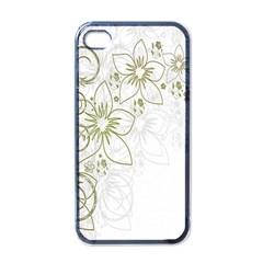 Flowers Background Leaf Leaves Apple iPhone 4 Case (Black)