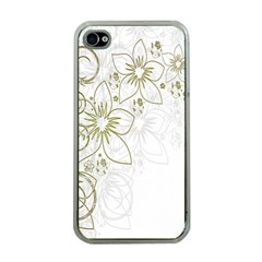 Flowers Background Leaf Leaves Apple iPhone 4 Case (Clear)