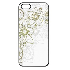 Flowers Background Leaf Leaves Apple iPhone 5 Seamless Case (Black)