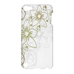 Flowers Background Leaf Leaves Apple iPod Touch 5 Hardshell Case