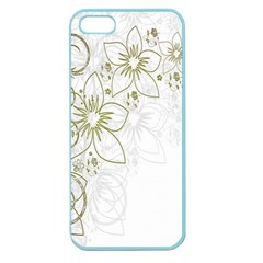 Flowers Background Leaf Leaves Apple Seamless iPhone 5 Case (Color)