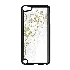 Flowers Background Leaf Leaves Apple iPod Touch 5 Case (Black)