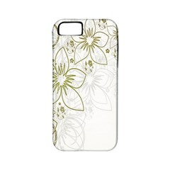Flowers Background Leaf Leaves Apple iPhone 5 Classic Hardshell Case (PC+Silicone)