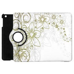 Flowers Background Leaf Leaves Apple iPad Mini Flip 360 Case