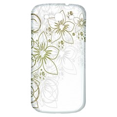 Flowers Background Leaf Leaves Samsung Galaxy S3 S III Classic Hardshell Back Case