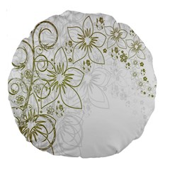 Flowers Background Leaf Leaves Large 18  Premium Round Cushions