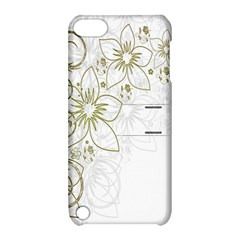 Flowers Background Leaf Leaves Apple iPod Touch 5 Hardshell Case with Stand