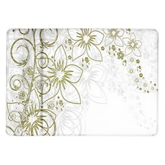 Flowers Background Leaf Leaves Samsung Galaxy Tab 10.1  P7500 Flip Case
