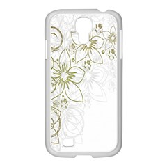 Flowers Background Leaf Leaves Samsung GALAXY S4 I9500/ I9505 Case (White)