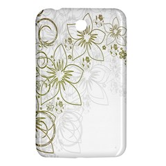 Flowers Background Leaf Leaves Samsung Galaxy Tab 3 (7 ) P3200 Hardshell Case