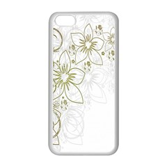 Flowers Background Leaf Leaves Apple Iphone 5c Seamless Case (white)