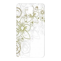 Flowers Background Leaf Leaves Samsung Galaxy Note 3 N9005 Hardshell Back Case
