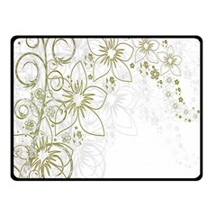 Flowers Background Leaf Leaves Double Sided Fleece Blanket (Small)