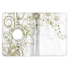 Flowers Background Leaf Leaves Kindle Fire HDX Flip 360 Case
