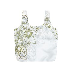 Flowers Background Leaf Leaves Full Print Recycle Bags (S)