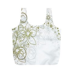 Flowers Background Leaf Leaves Full Print Recycle Bags (m)