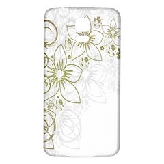 Flowers Background Leaf Leaves Samsung Galaxy S5 Back Case (White)
