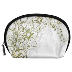 Flowers Background Leaf Leaves Accessory Pouches (Large)