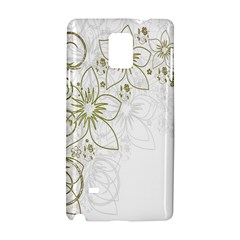 Flowers Background Leaf Leaves Samsung Galaxy Note 4 Hardshell Case