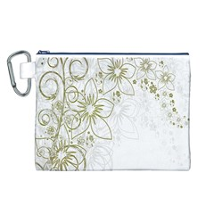 Flowers Background Leaf Leaves Canvas Cosmetic Bag (L)